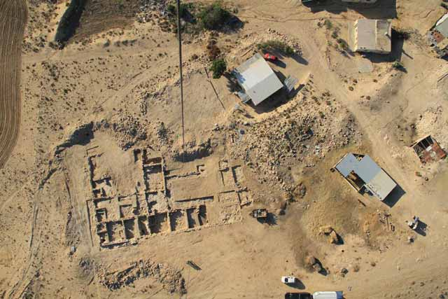 6. The excavation area, aerial view, looking south.