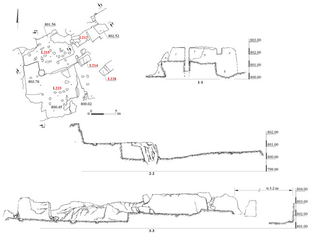 4. Quarry QI, plan and sections.