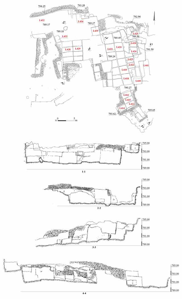 8. Quarry QII, plan and sections.