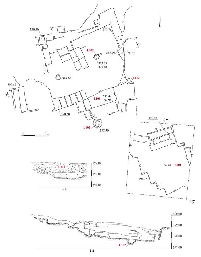 3. Plan and sections.