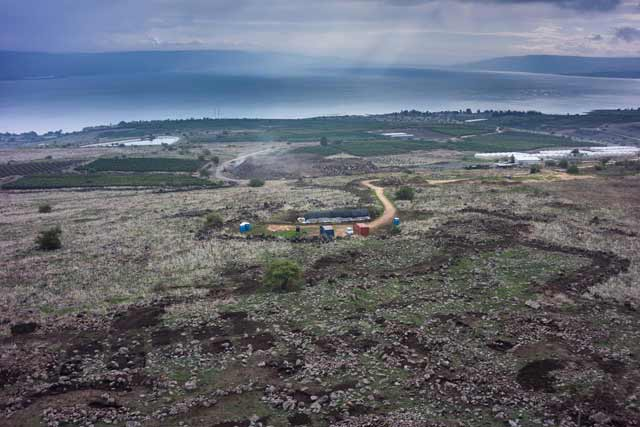 3. Aerial view of excavation, looking south.