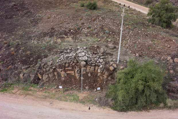 9. Aerial view of Dolmen 35, looking west.