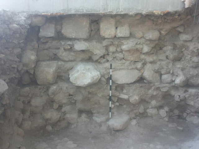 3. Stone levels in Building 13043, looking south.
