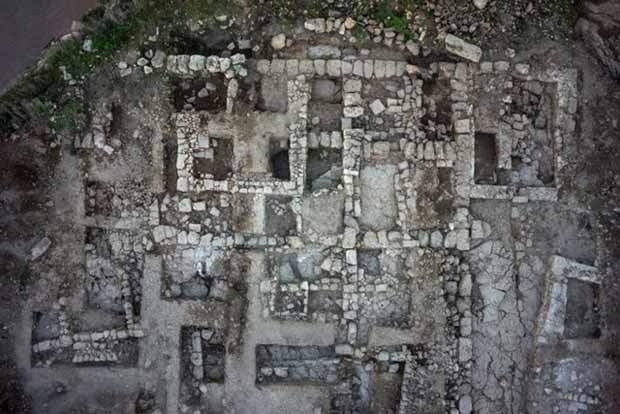 4. The Byzantine building, aerial photograph.