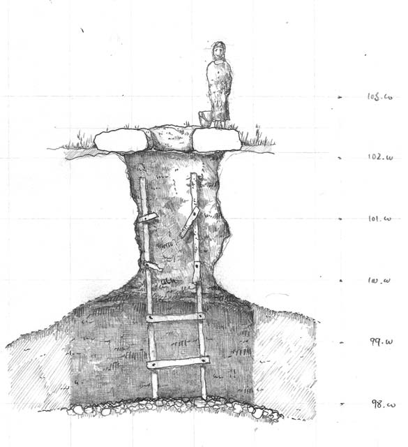 8. The cistern, a section.