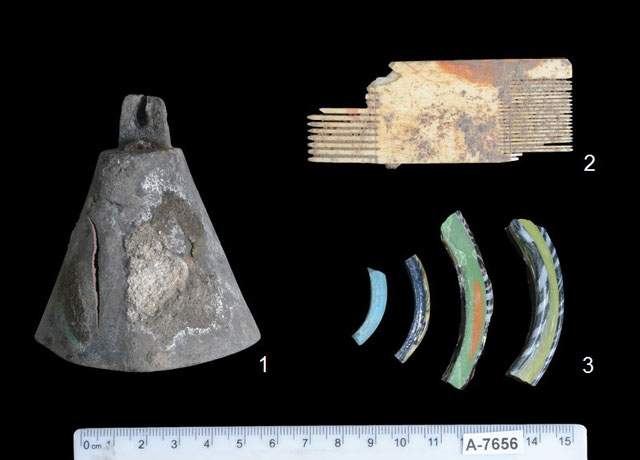 9. Finds from the excavation.