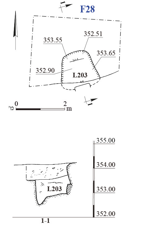 28. Site F28, plan and section.